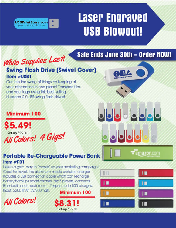USB and Charges Blowout Sales 3 days