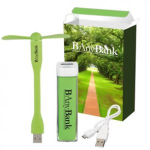 Power Bank & Mini USB Fan Combo